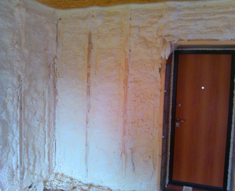 Утепление стен пенополиуретаном (ППУ)