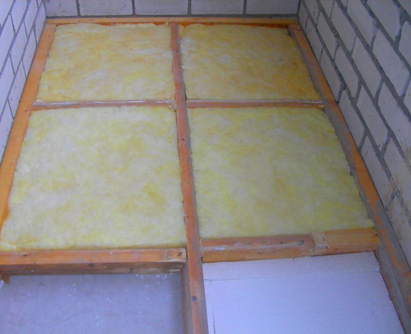 Утепление балконов и лоджий минеральной ватой (минвата)