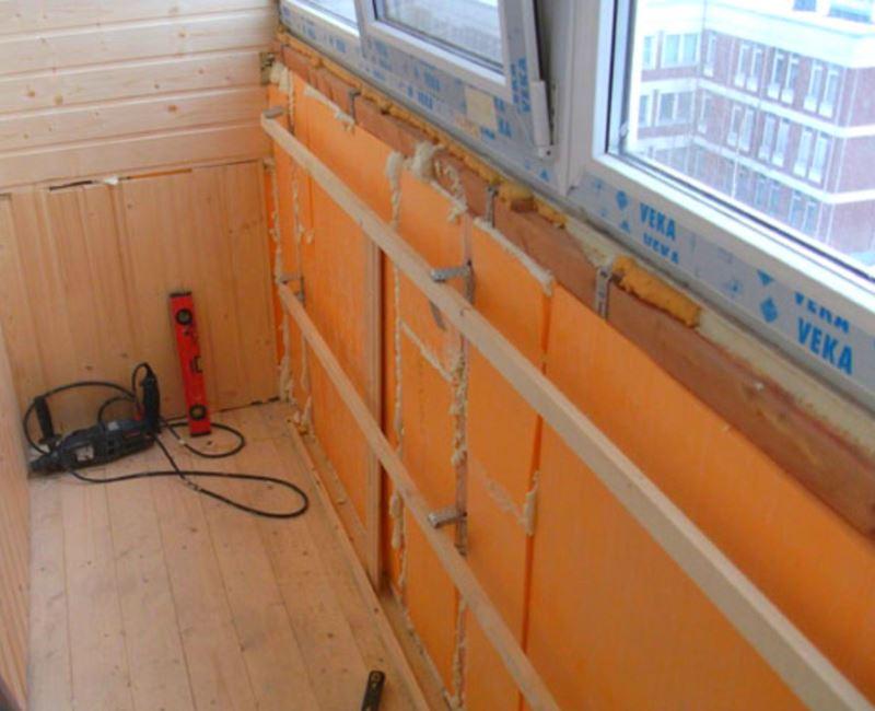 Утепление балконов и лоджий экструдированным пенополистиролом (ЭПС)