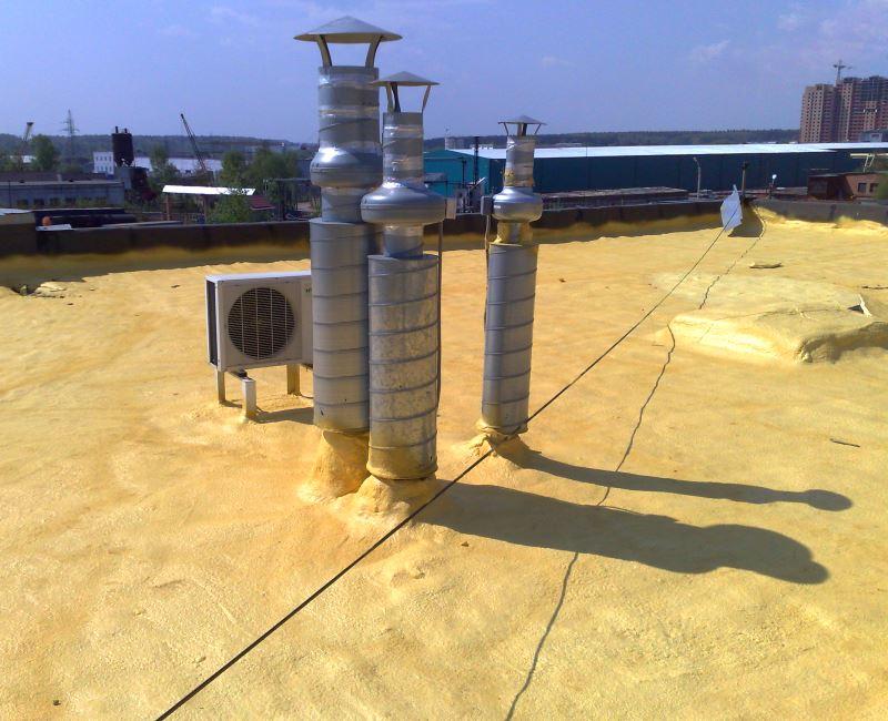 Утепление крыш напыляемым пенополиуретаном (ППУ)