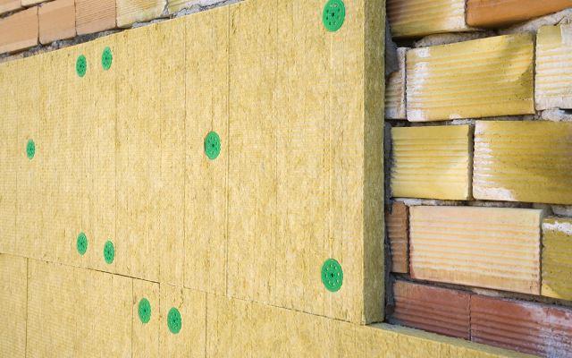Утепление фасадов минеральной ватой (минвата)